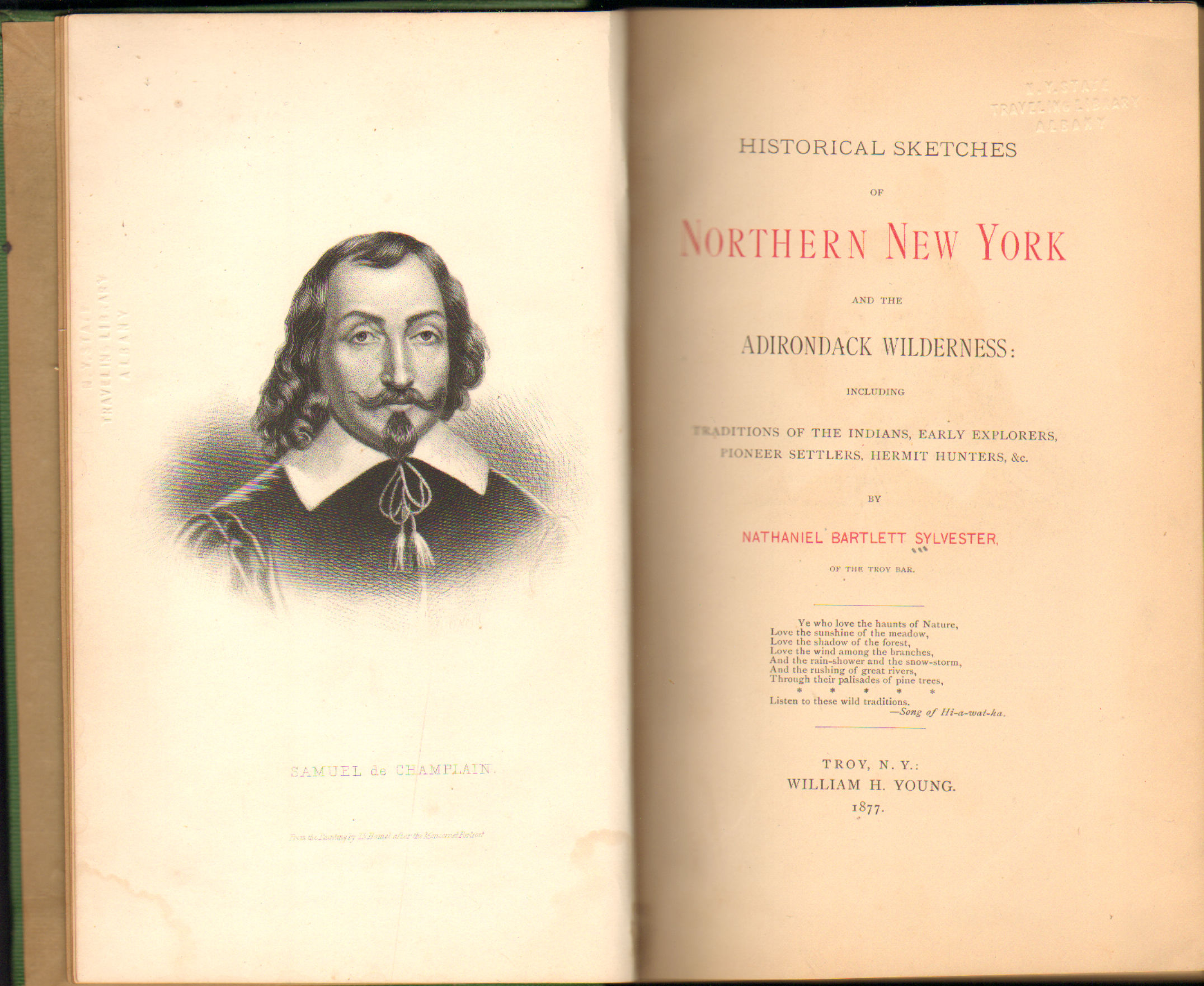 Image for Historical Sketches Of Northern New York And The Adirondack Wilderness: Including Traditions Of The Indians Early Explorers Pioneer Settlers Hermit Hunters &c.